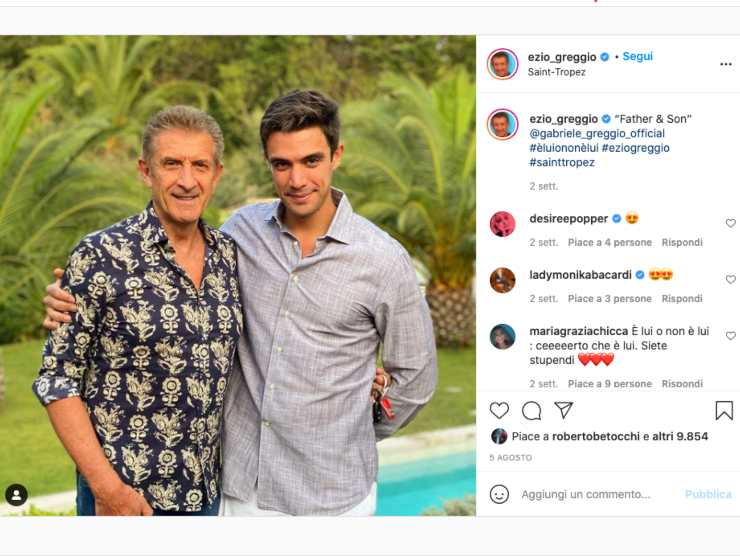 Schermata profilo Instagram di Ezio Greggio (Instagram)